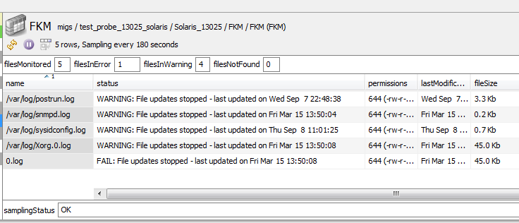 How can I monitor whether a file has stopped updating? – Support